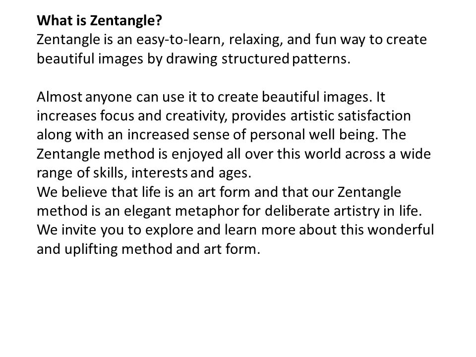 What is Zentangle.