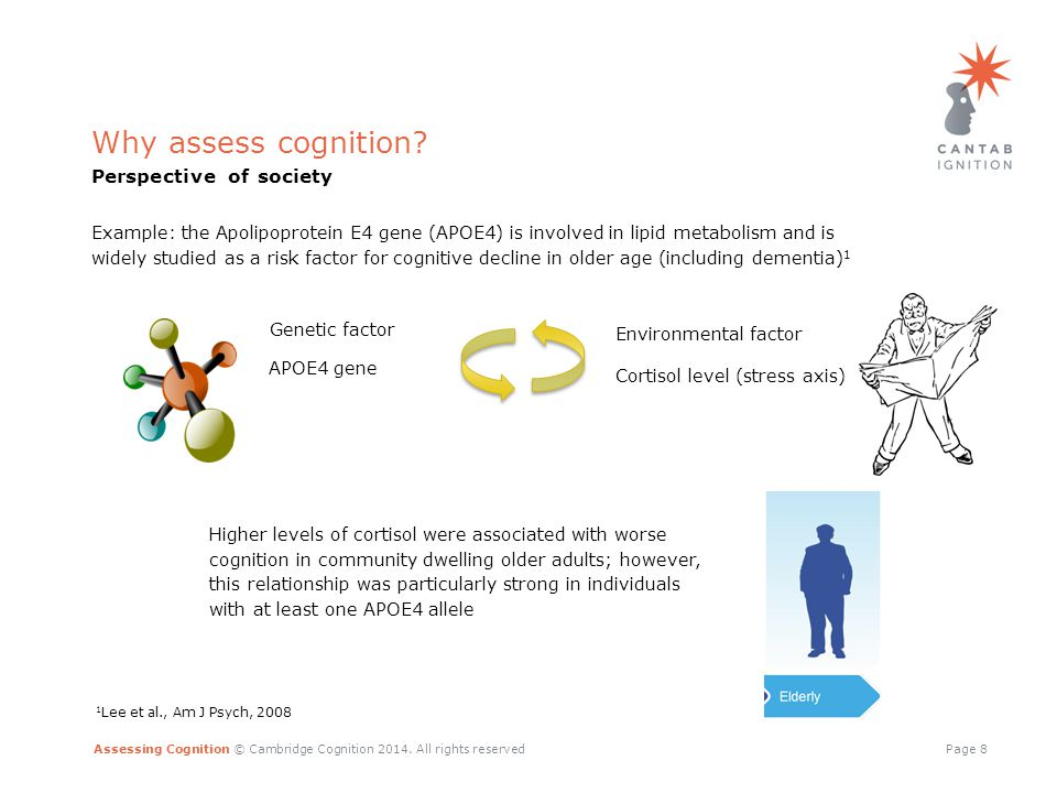 Assessing Cognition © Cambridge Cognition 2014.All rights reservedPage 9 Why assess cognition.