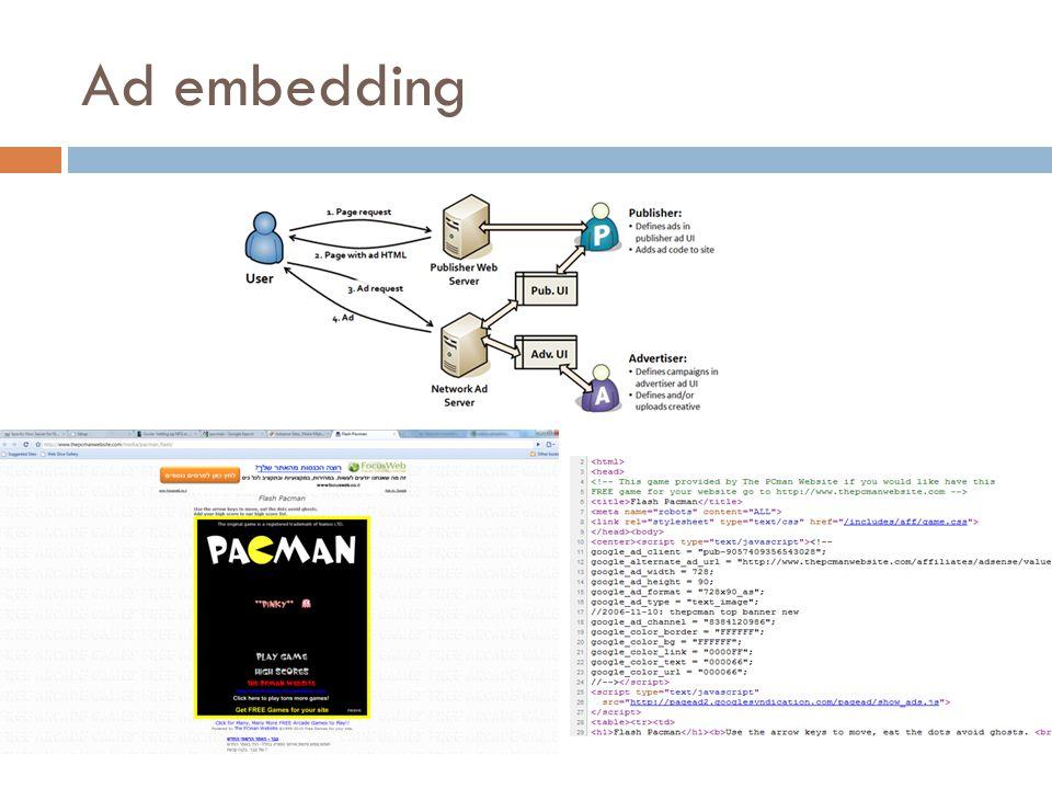 Ad embedding
