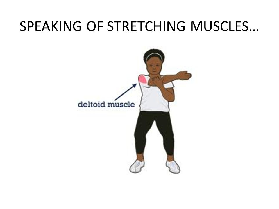 SPEAKING OF STRETCHING MUSCLES…