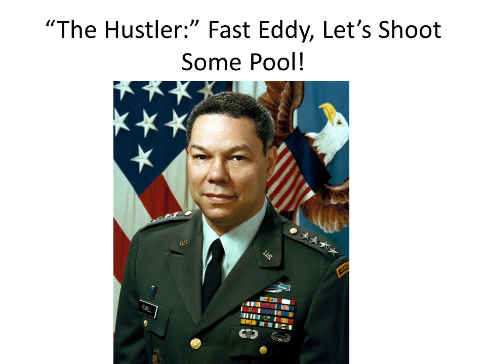 The Hustler: Fast Eddy, Let's Shoot Some Pool!