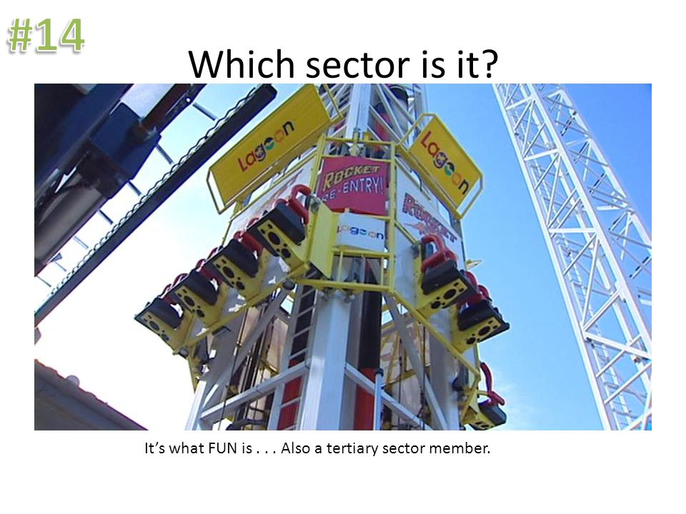Which sector is it? It's what FUN is... Also a tertiary sector member.