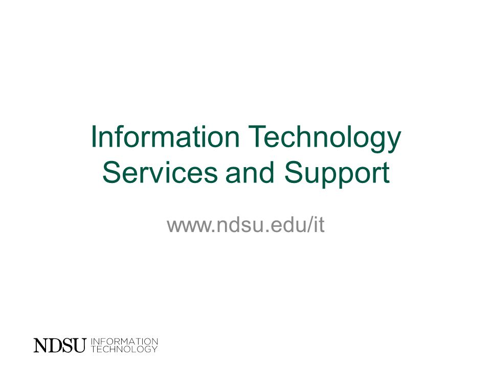 Information Technology Services and Support