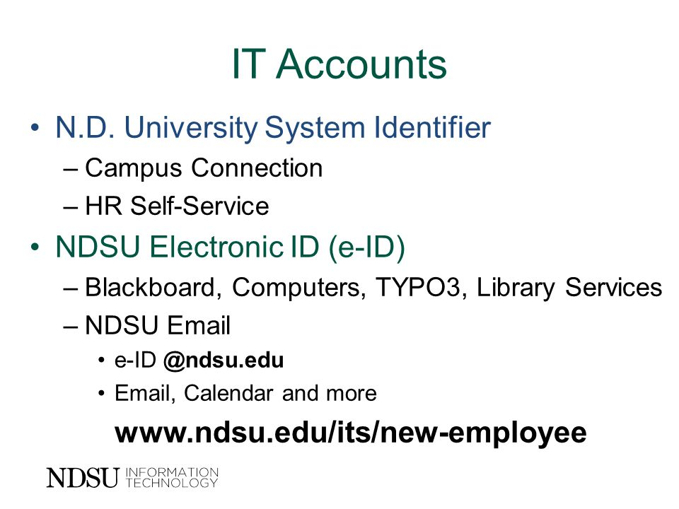 IT Accounts N.D.