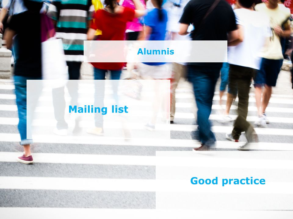 Alumnis Mailing list Good practice
