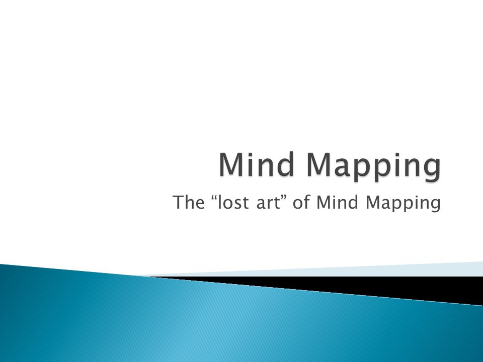  Buzan suggests the following guidelines for creating mind maps (from Wikipedia) ◦ Start in the center with an image of the topic, using at least 3 colors.