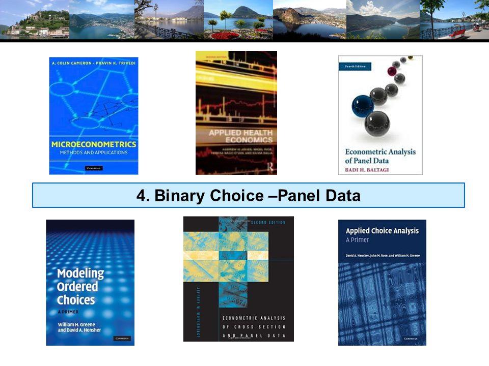 4. Binary Choice –Panel Data