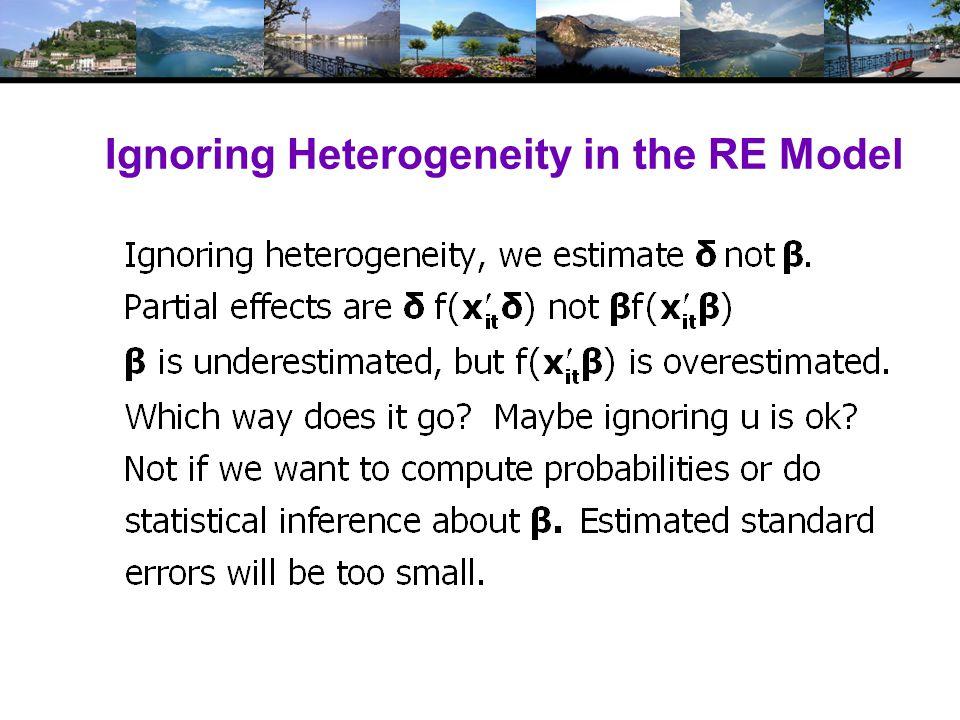 Ignoring Heterogeneity in the RE Model