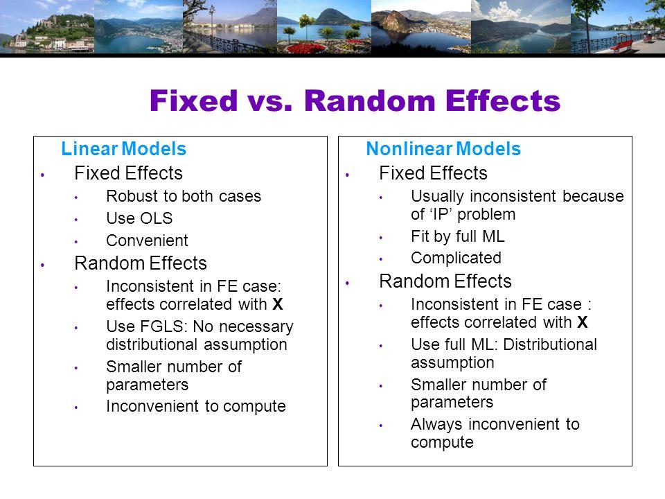 Fixed vs.