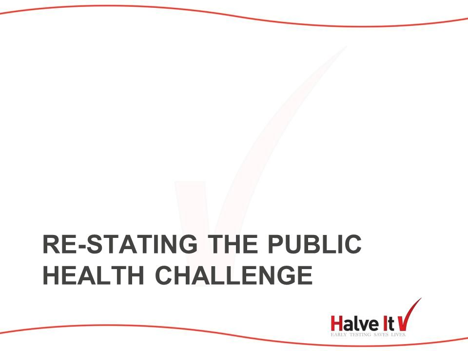 RE-STATING THE PUBLIC HEALTH CHALLENGE