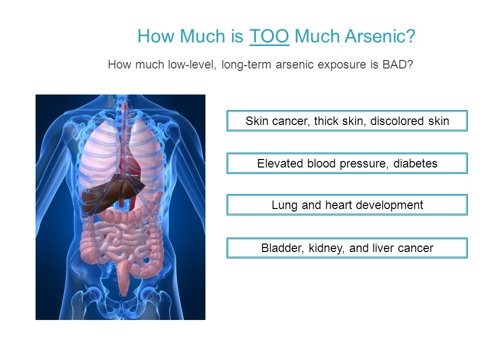 How Much is TOO Much Arsenic. How much low-level, long-term arsenic exposure is BAD.