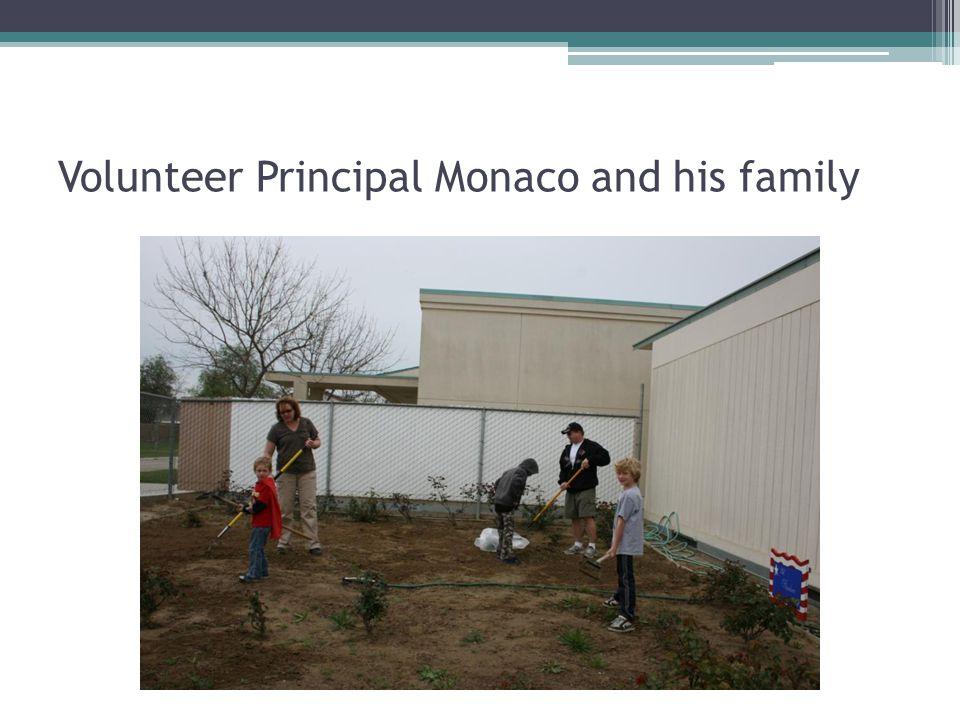Volunteer Principal Monaco and his family