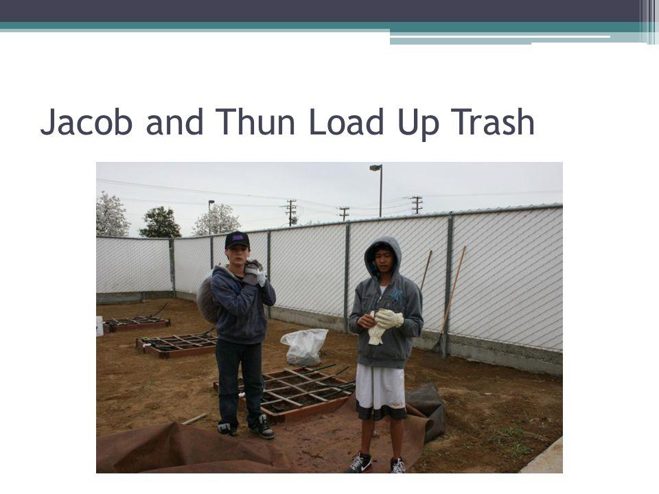 Jacob and Thun Load Up Trash