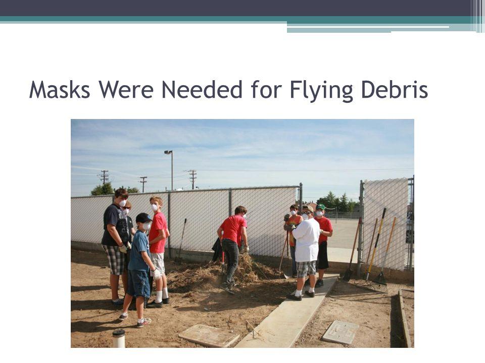 Masks Were Needed for Flying Debris