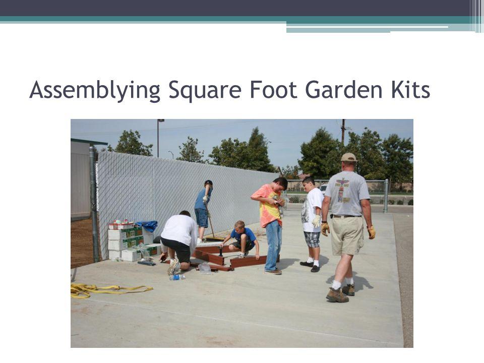 Assemblying Square Foot Garden Kits