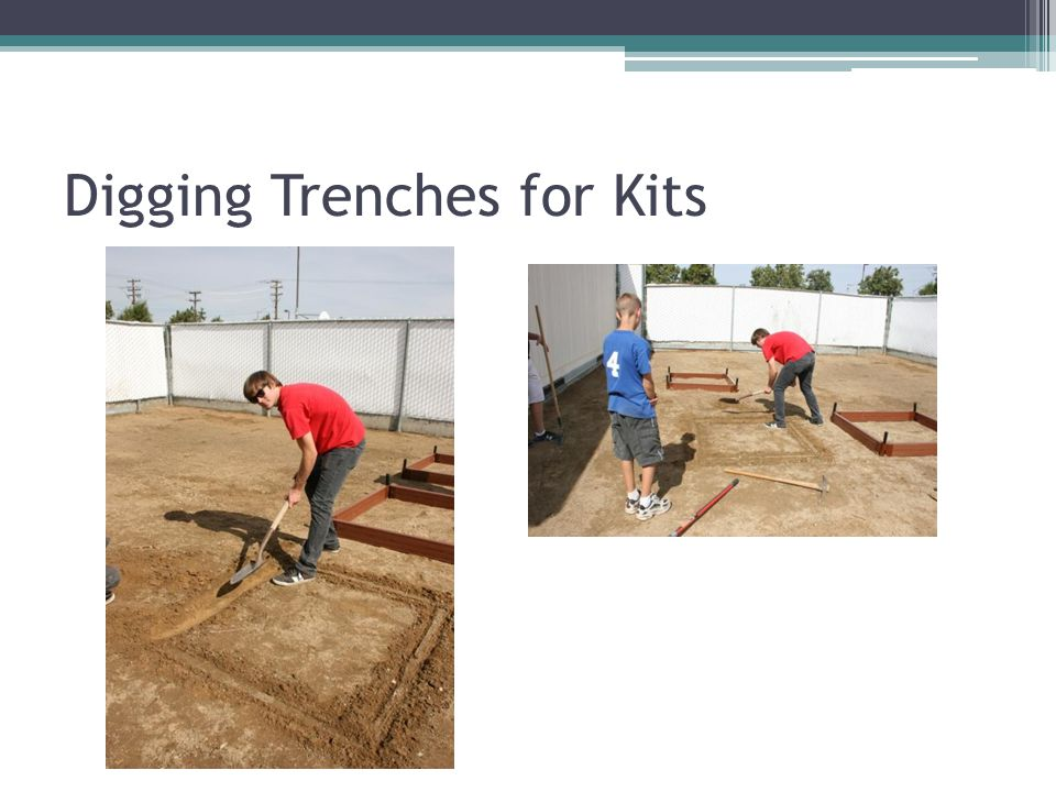 Digging Trenches for Kits