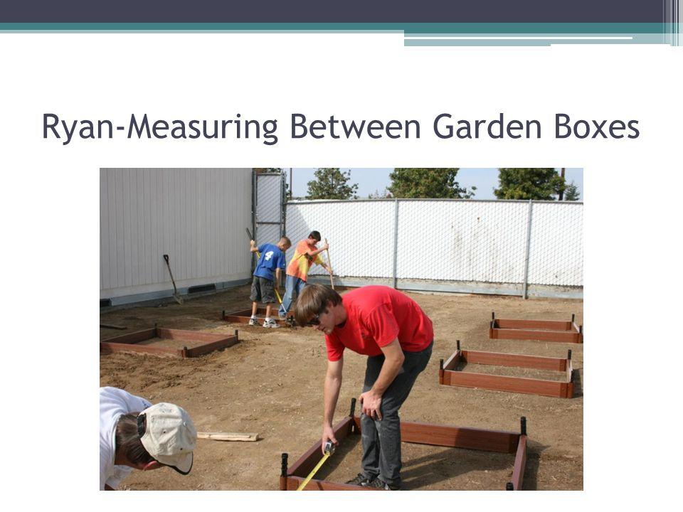 Ryan-Measuring Between Garden Boxes