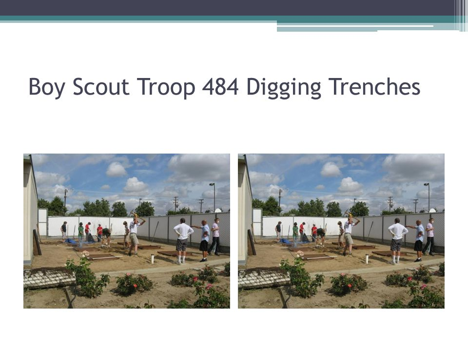 Boy Scout Troop 484 Digging Trenches