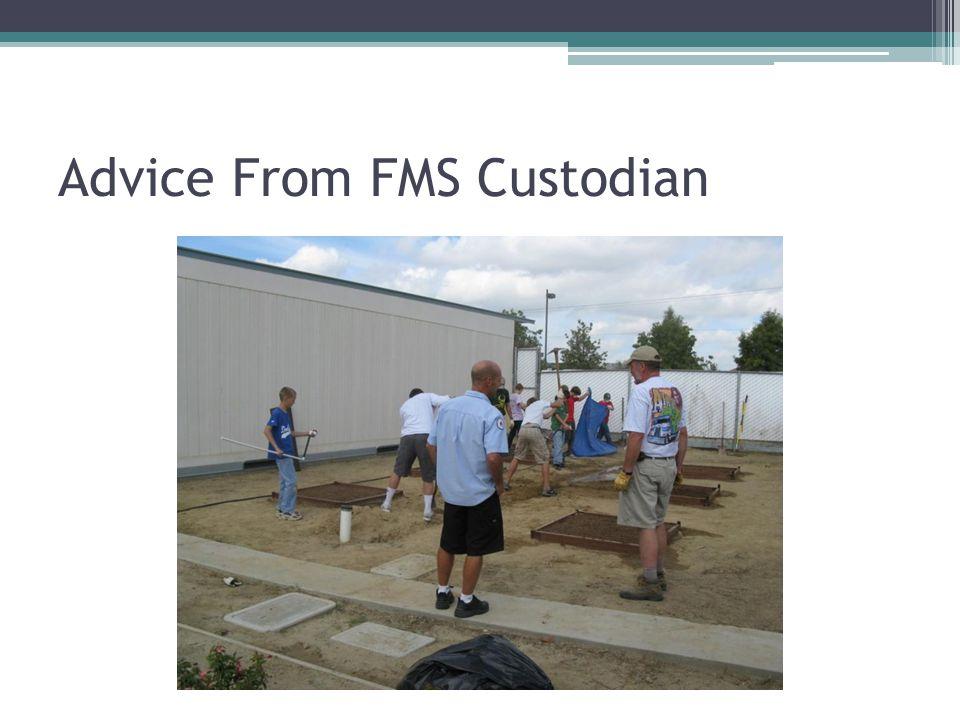 Advice From FMS Custodian