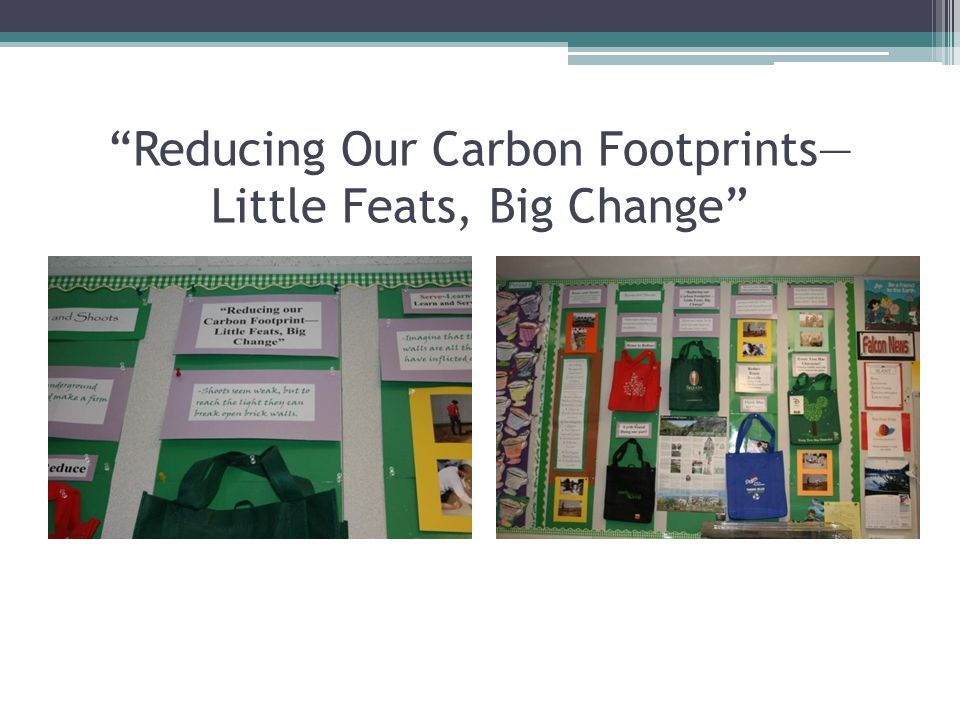 """""""Reducing Our Carbon Footprints— Little Feats, Big Change"""""""