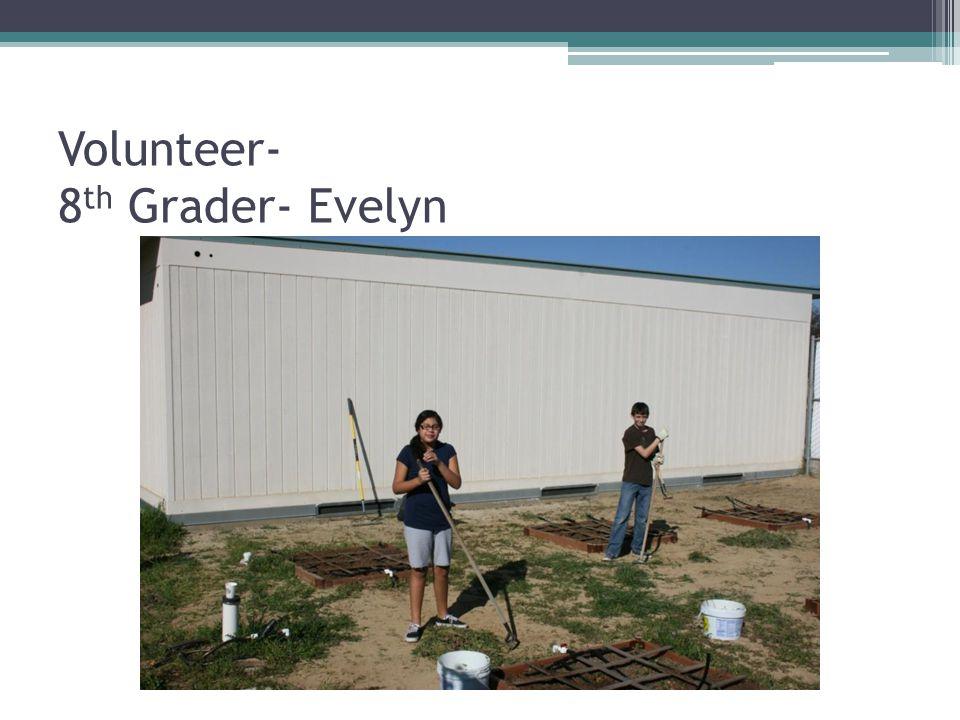 Volunteer- 8 th Grader- Evelyn