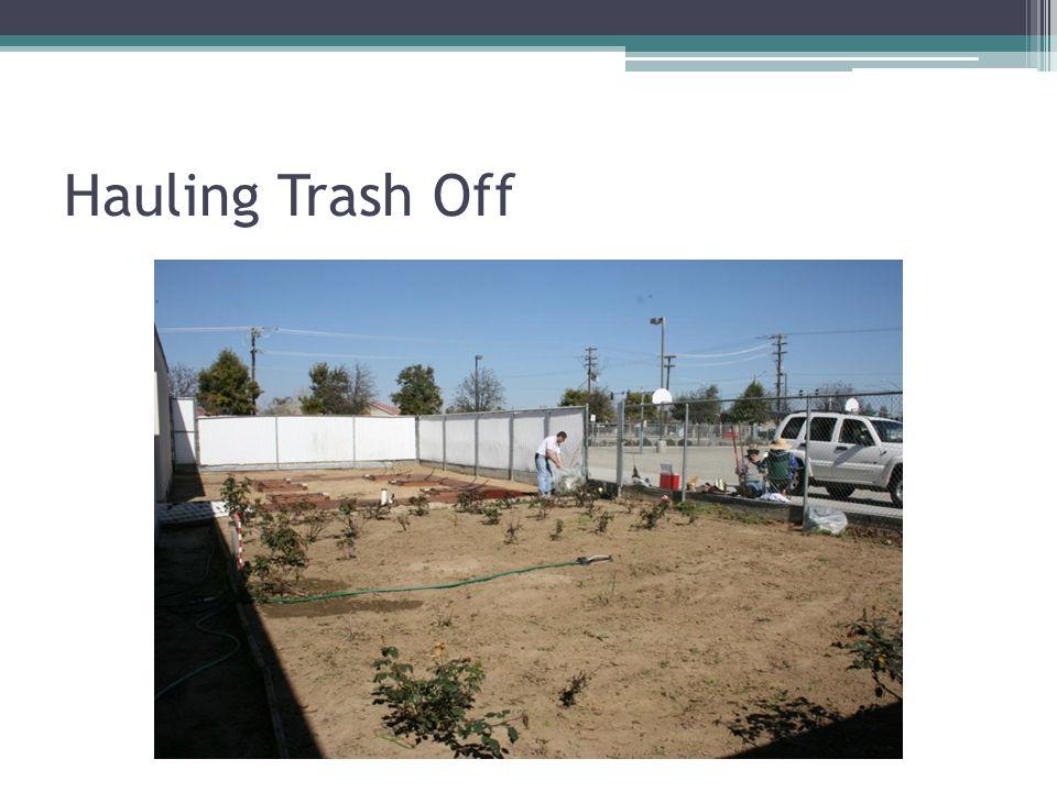 Hauling Trash Off