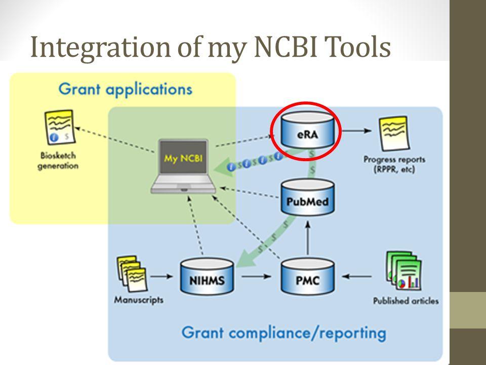 Integration of my NCBI Tools
