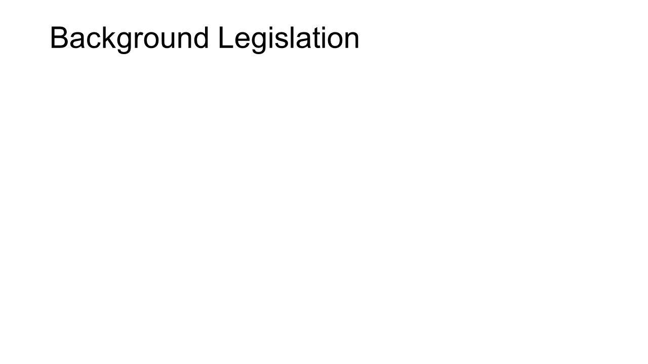 Background Legislation