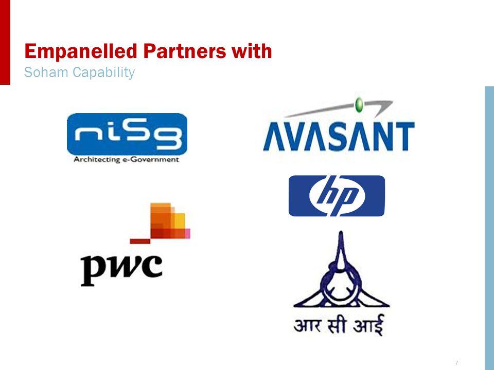 7 Empanelled Partners with Soham Capability