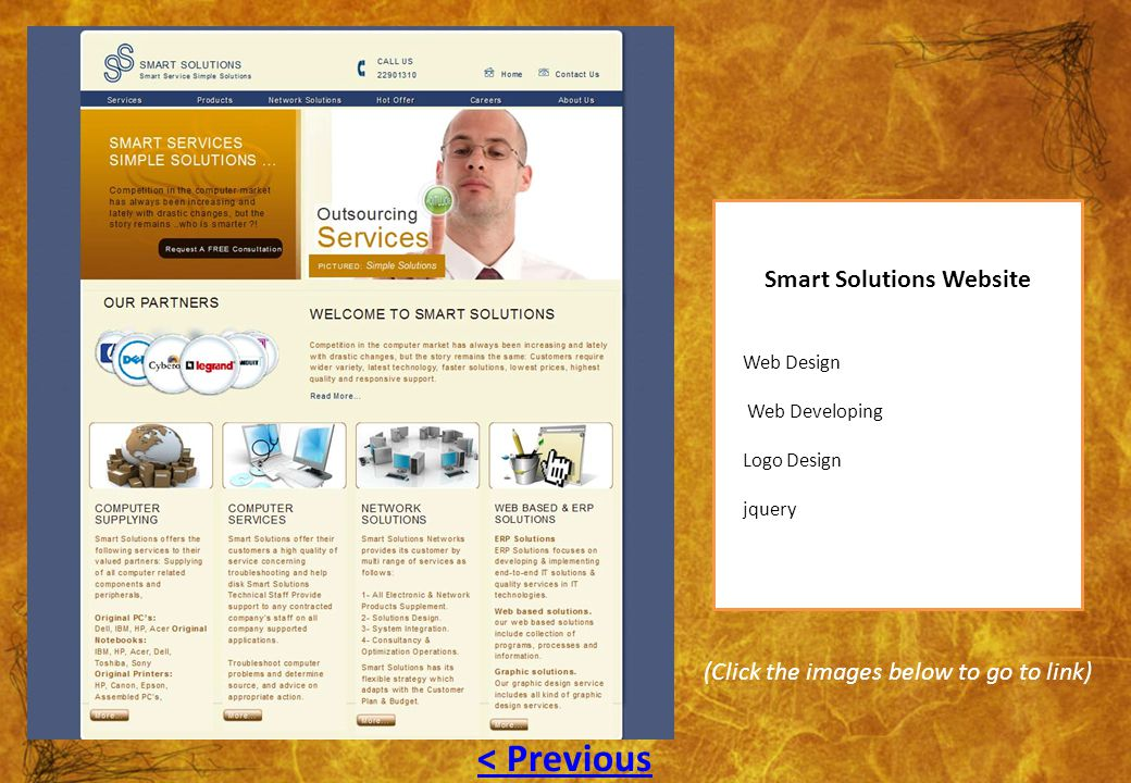 Smart Solutions Website Web Design Web Developing Logo Design jquery (Click the images below to go to link) < Previous
