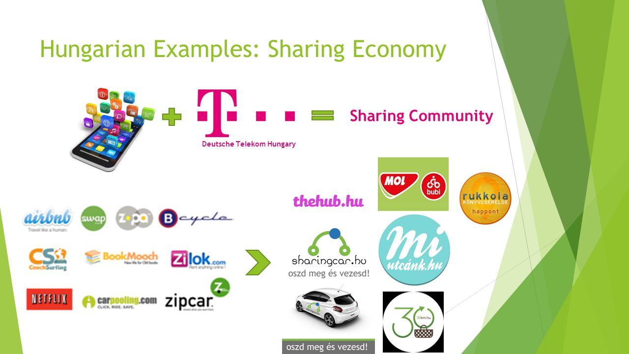 Hungarian Examples: Sharing Economy Deutsche Telekom Hungary Sharing Community