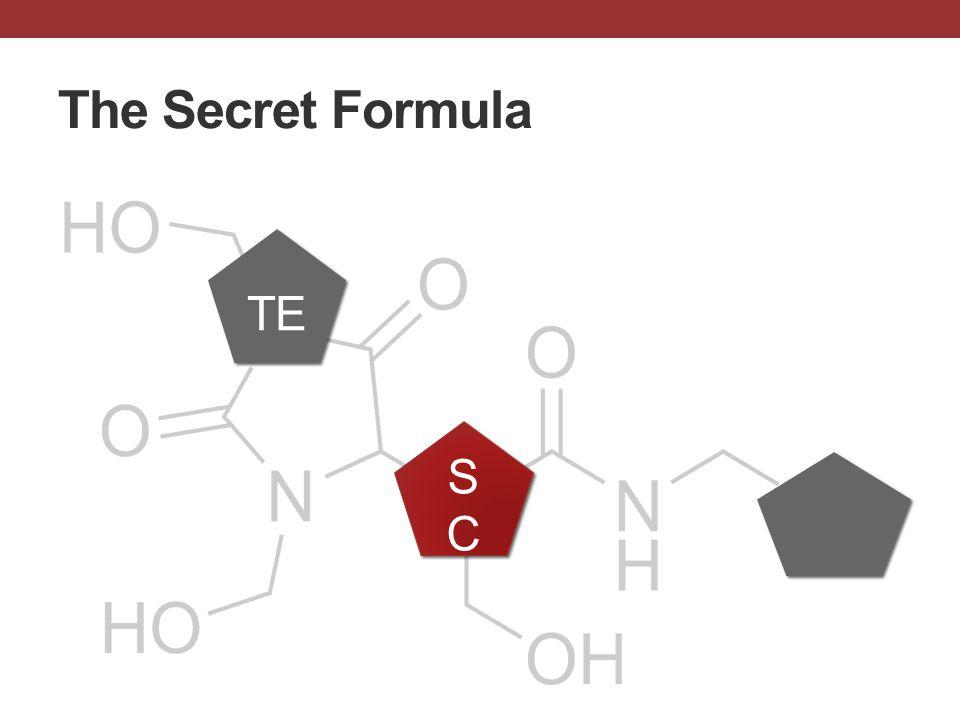 The Secret Formula TE SCSC SCSC