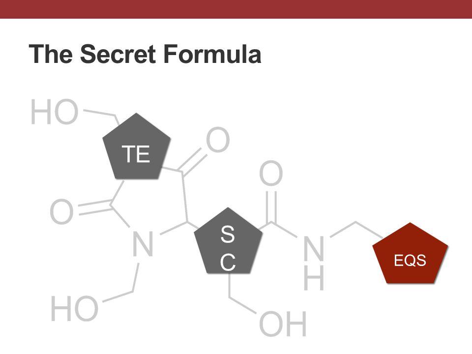 The Secret Formula TE SCSC SCSC EQS