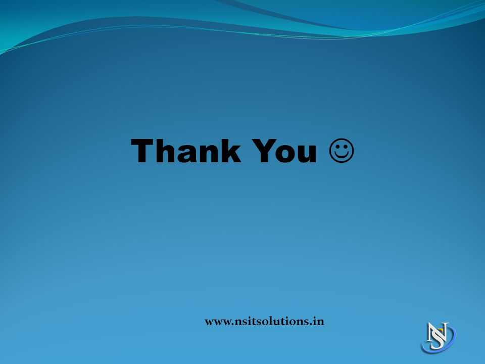 Thank You www.nsitsolutions.in