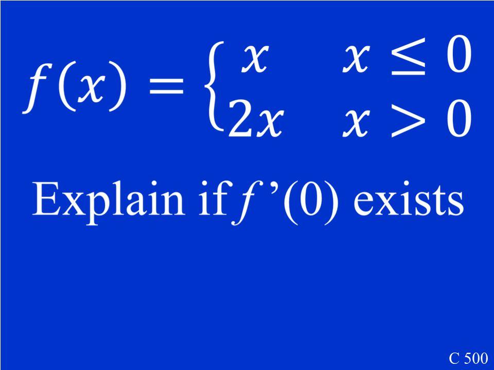 x = 2 C 400