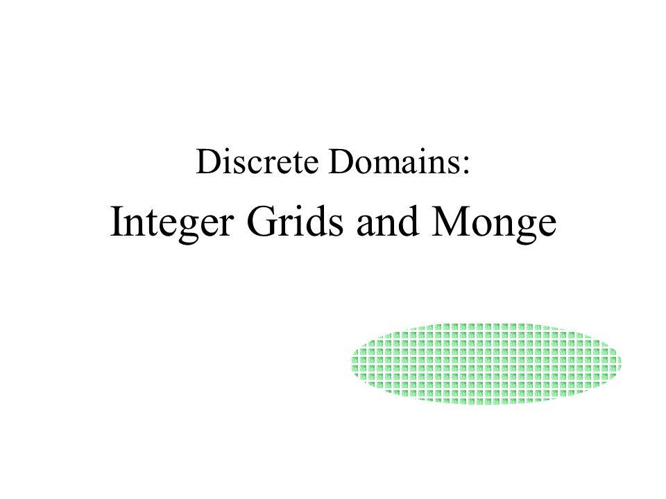 Discrete Domains: Integer Grids and Monge