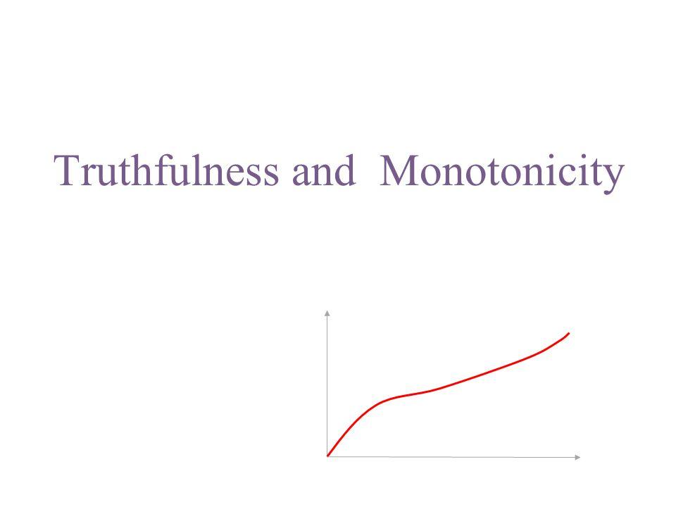 Truthfulness and Monotonicity