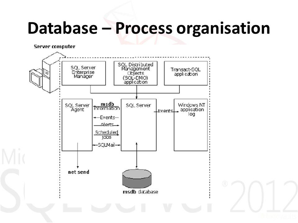 Database – Process organisation
