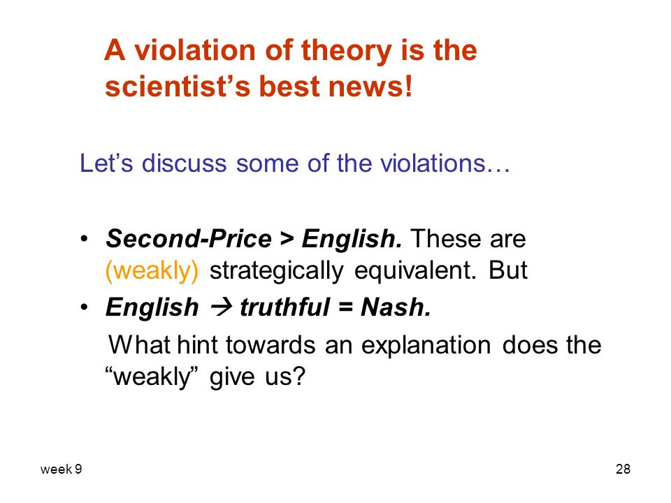 week 928 A violation of theory is the scientist's best news.