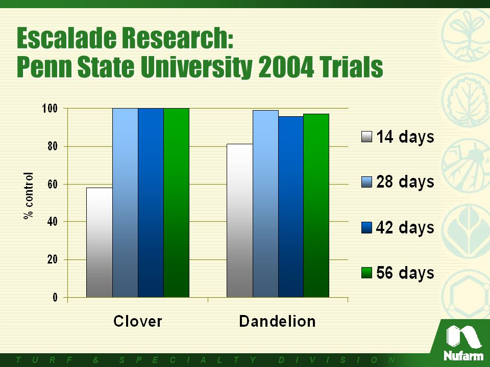 T U R F & S P E C I A L T Y D I V I S I O N Escalade Research: Penn State University 2004 Trials