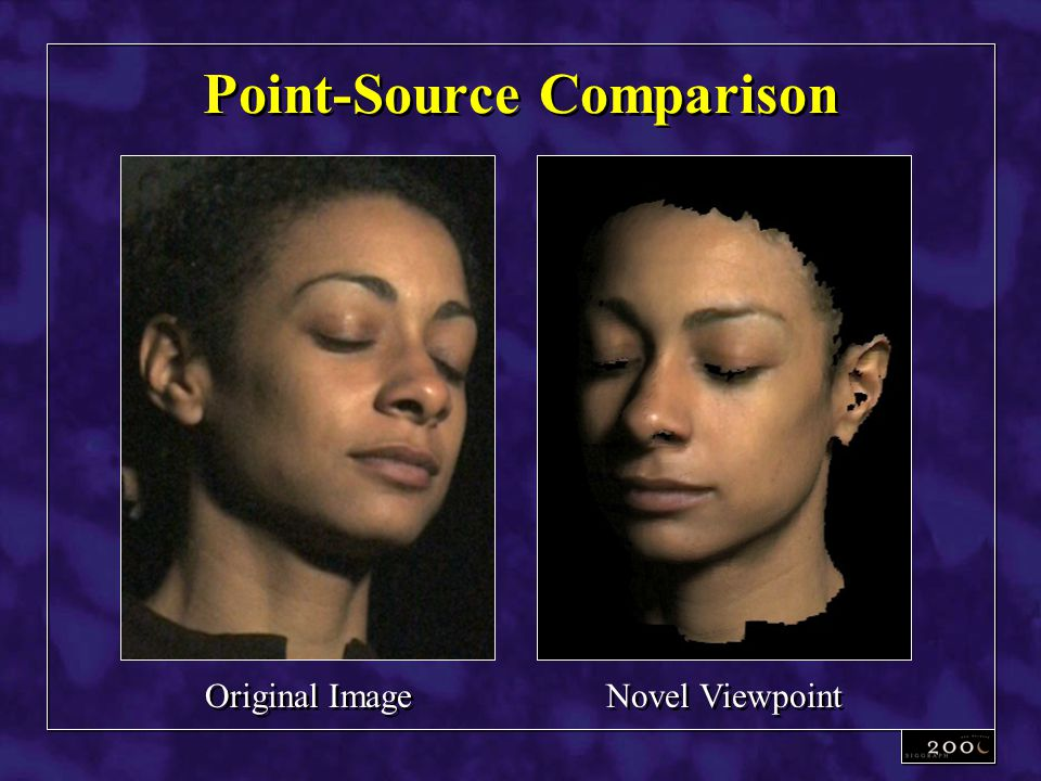 Point-Source Comparison Original Image Novel Viewpoint