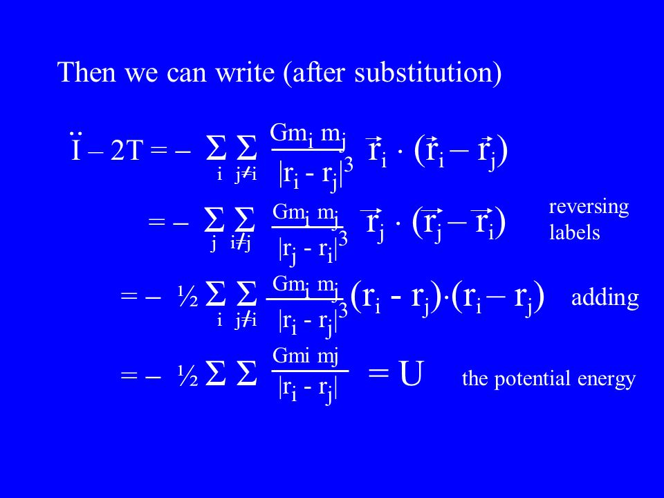 Then we can write (after substitution) I – 2T =  Σ Σ r i.