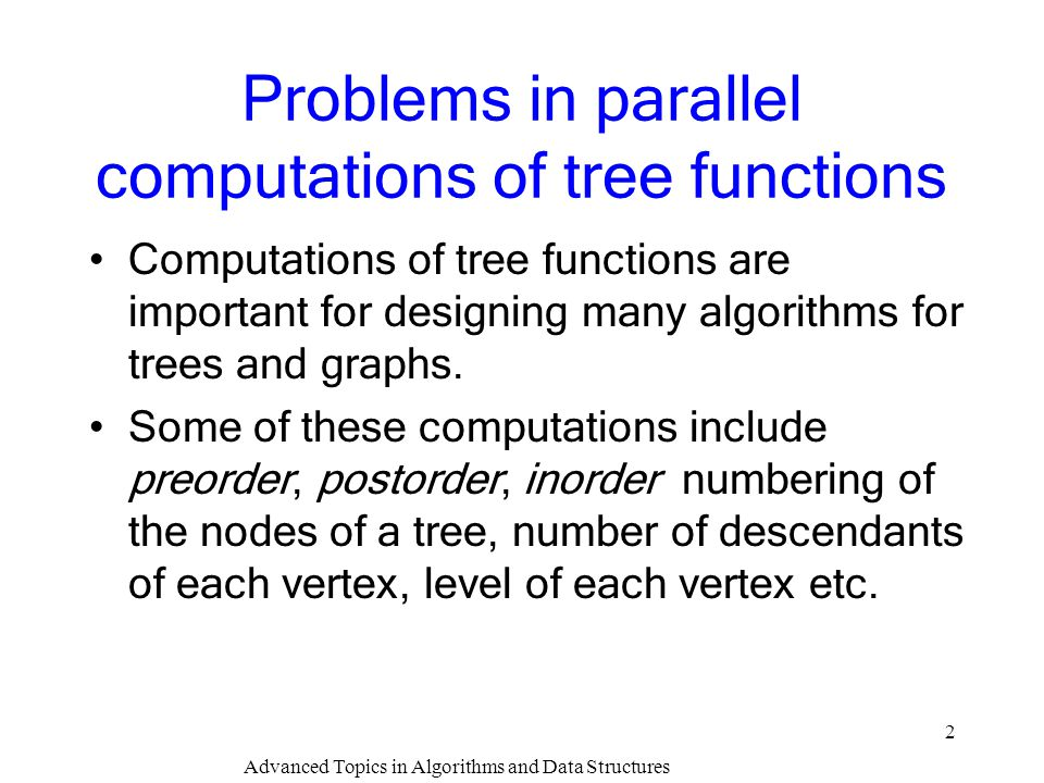 Advanced Topics in Algorithms and Data Structures 13 Correctness of Euler tour basis: When the tree has 2 nodes, there is only one edge and one cycle with two edges.