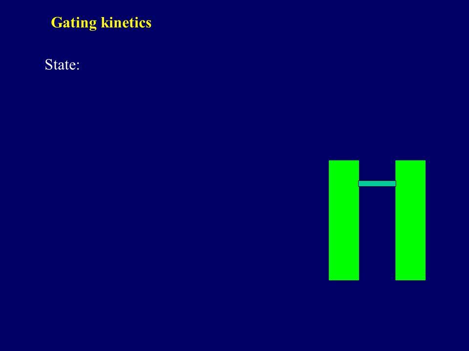 State: Gating kinetics