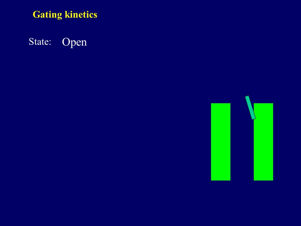 Open State: Gating kinetics