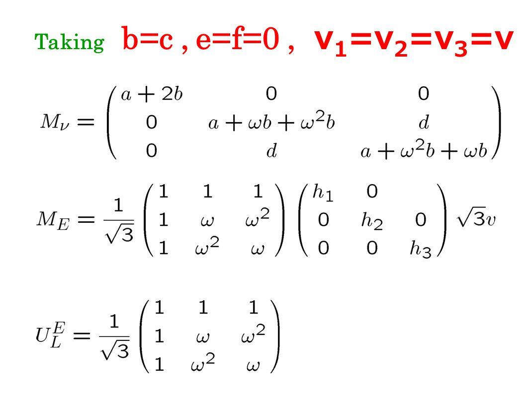 Taking b=c, e=f=0, v 1 =v 2 =v 3 =v