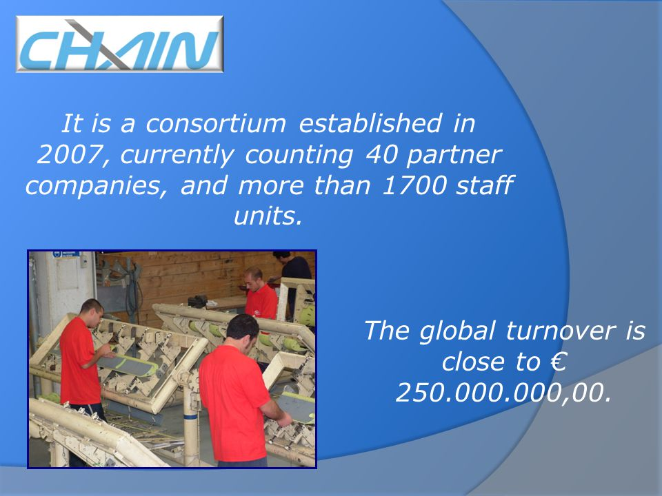 It is a consortium established in 2007, currently counting 40 partner companies, and more than 1700 staff units.