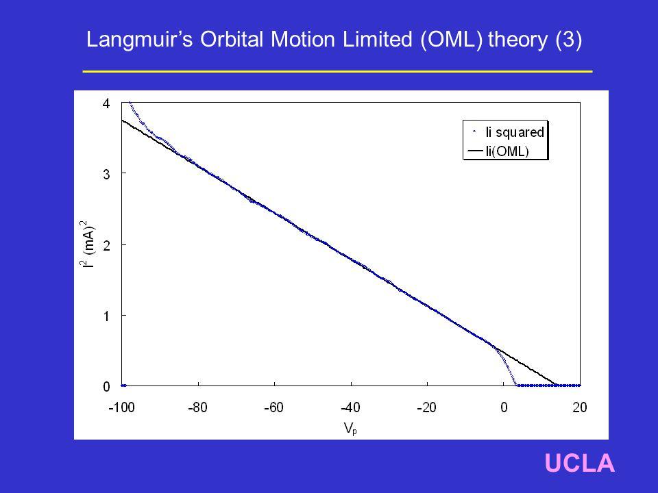 UCLA Langmuir's Orbital Motion Limited (OML) theory (3)