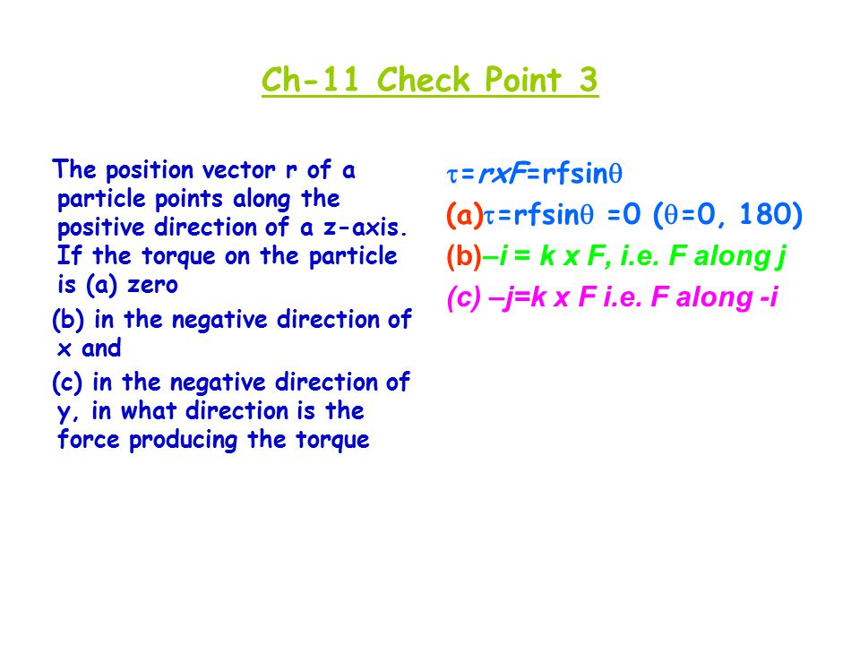 The position vector r of a particle points along the positive direction of a z-axis.