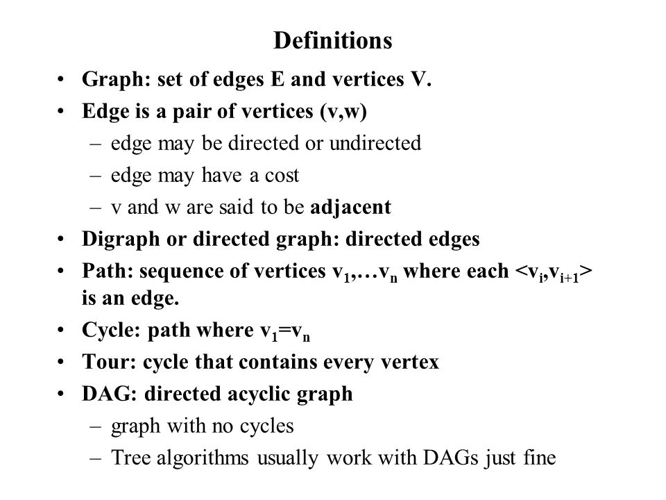 Weighted Shortest Path Pseudo-Code Set distance from S to S to 0 (on node) Priority Queue PQ <- S while (PQ is not empty) vertex <- PQ.dequeue() … remove min mark vertex as visited (enter in hashtable) record cost to vertex sons <- vertex.sons() goodSons <- new sons OR old sons with better costs estimates queue.enqueue(goodSons)… enqueue puts in proper order.